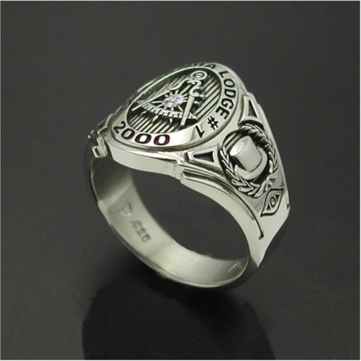 Past Master California Custom Bezel Ring in Sterling Silver ~ Cigar Band Style 018C