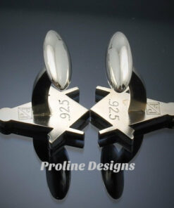 Blue Lodge Square and Compass Cufflinks ~ style 039