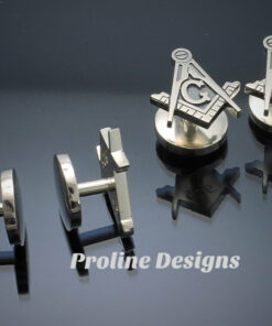 Blue Lodge Square and Compass Tuxedo Studs ~ set of 4 ~ style 038