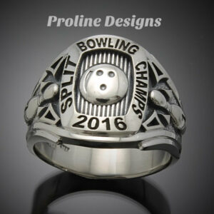 Bowling Championship Ring in Sterling Silver ~ Style 060