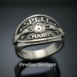 Bowling Championship Ring in Sterling Silver