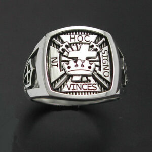 Knights Templar Ring in Sterling Silver ~ Style 017
