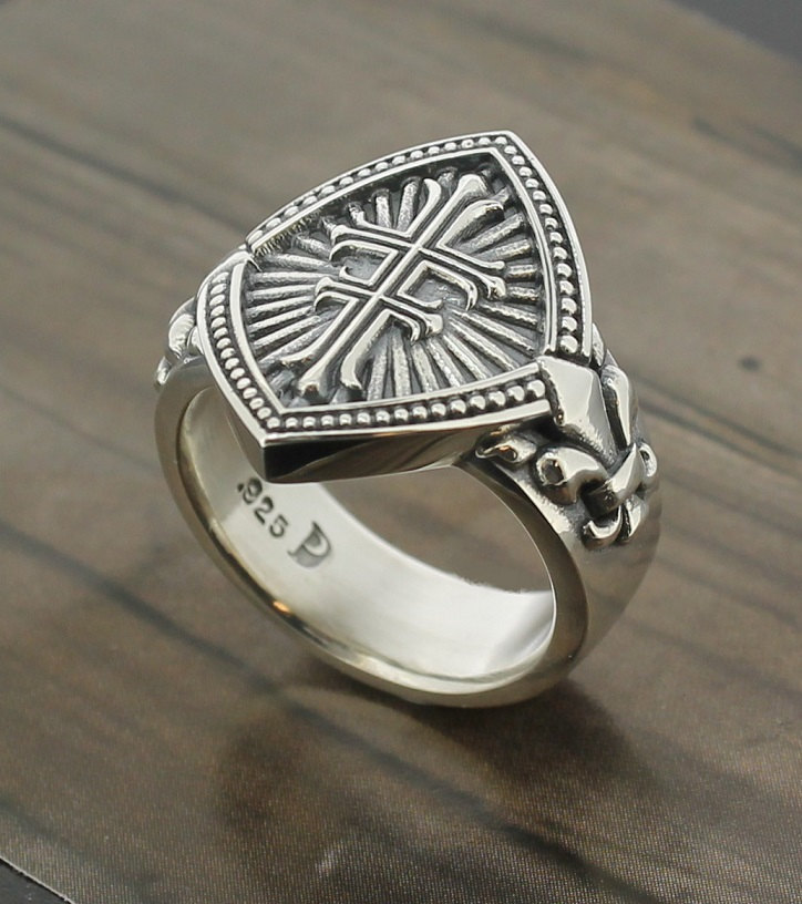ladies-double-cross-sterling-silver-ring-with-fleur-de-lis-style-056-57e9970d1.jpg