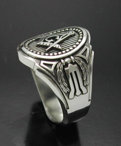 Masonic Ring in Sterling Silver ~ Cigar Band Style 011