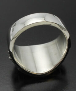 """Masonic Ring in Sterling Silver ~ Cigar Band Style 040 """"Seeing eye"""""""