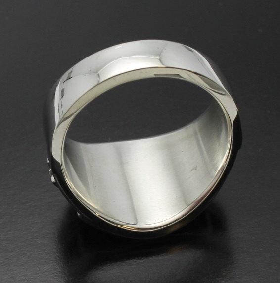 Widows Sons Ring in Sterling Silver ~ Cigar Band Style 061