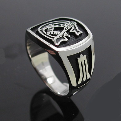 Masonic Ring in Sterling Silver ~ Style 003B