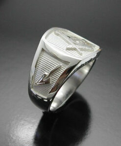 Blue Lodge Masonic Ring in Sterling Silver ~ Style 006