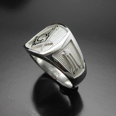 masonic ring in sterling silver style 006 proline designs