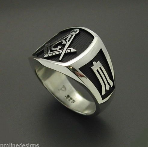 masonic ring in sterling silver style 006b proline designs