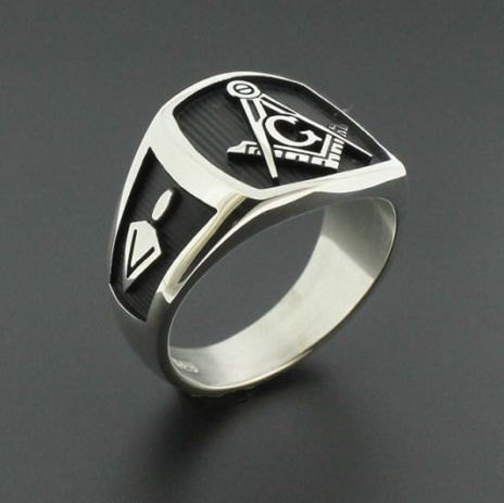 Masonic Ring in Sterling Silver ~ Style 006B
