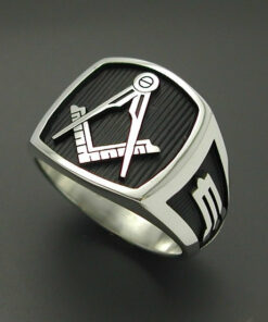 Masonic Ring in Sterling Silver ~ Style 006B no G