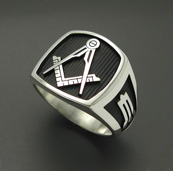 masonic ring in sterling silver style 006b no g