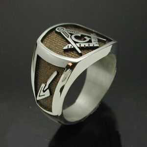 Masonic Ring in Sterling Silver with Bronze Finish ~ Style 006BR