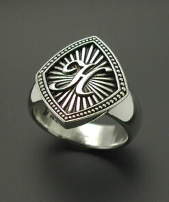 Monogrammed Ladies Sterling Silver Ring