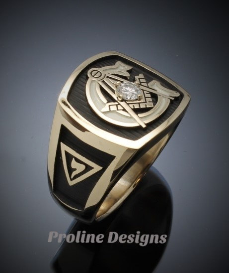Gold York Rite Rings