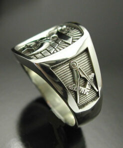 Shriner Pyramid Ring in Sterling Silver ~ Style 007