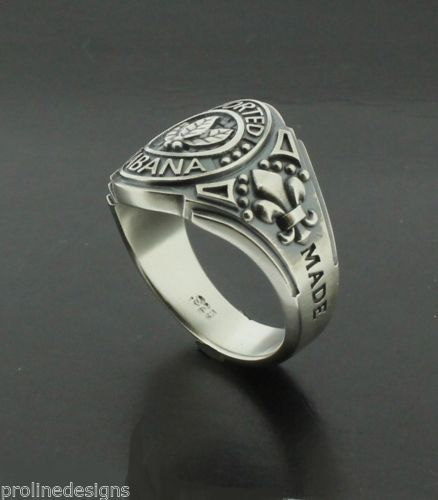 55db9243fb5d5 Tobacco Leaves Imported Habana Mens Ring in Sterling Silver ~ Cigar Band  Style 050