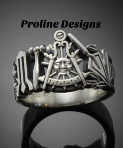 California Past Master Ring in Sterling Silver ~ Style 001CP