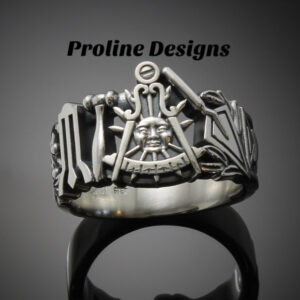 California Past Master Masonic Ring in Sterling Silver ~ Style 001CP