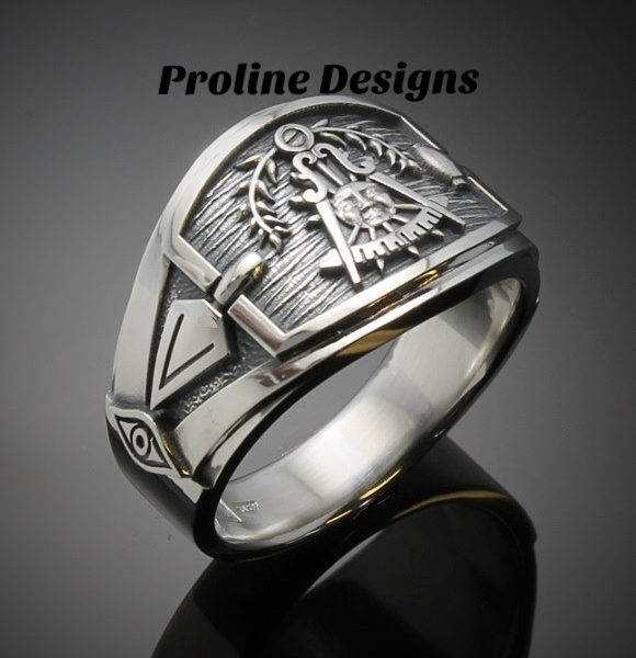 Custom for John L ~ California Past Master Ring for Men in 10k gold with a diamond ~Style 027CP~Size 15