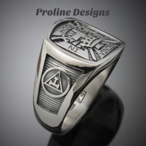 York Rite Ring in Sterling Silver ~ Style 017YR