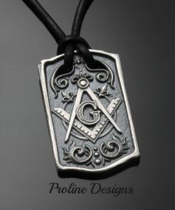 Masonic Blue Lodge Square and Compass Dog Tag ~ 046a