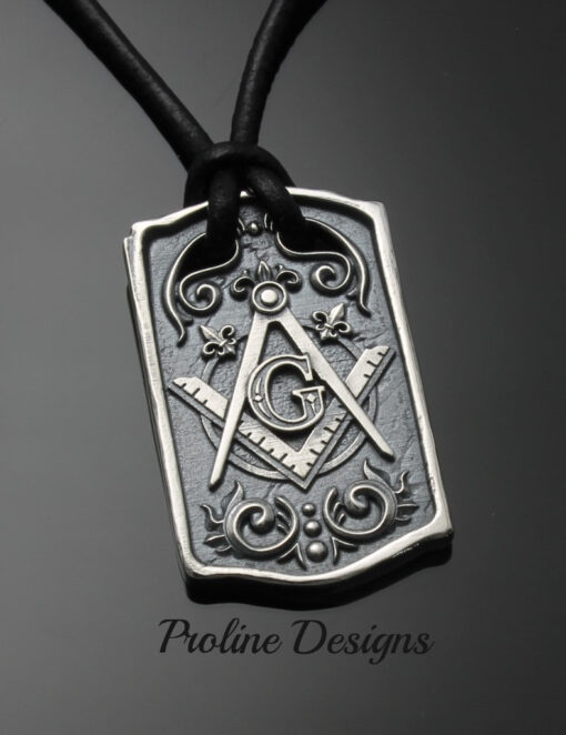 Masonic Blue Lodge Square and Compass Dog Tag ~ 046a