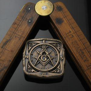 Masonic Travel Stone in Solid Bronze