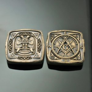 Masonic Travel Stone in Solid Bronze