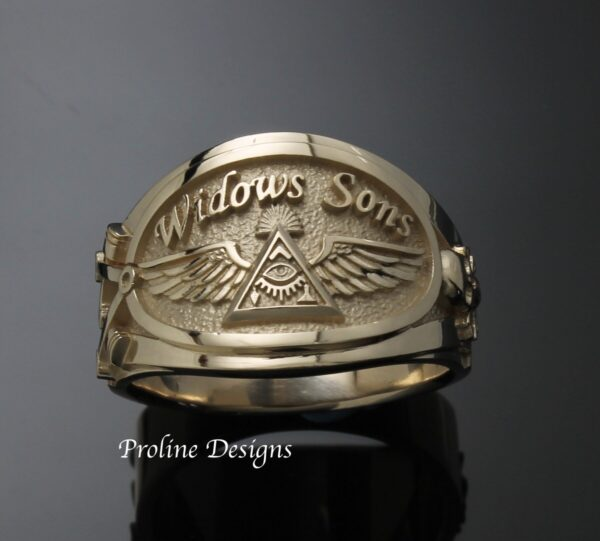 Widows Sons Ring In Sterling Silver Cigar Band Style