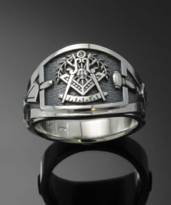 Cigar Band Past Master Ring in Sterling Silver ~ Style 027PM