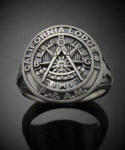 Moral Compass Custom Bezel Ring in Sterling Silver ~ Style 032PM
