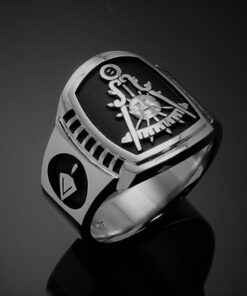 Masonic Past Master Ring in Sterling Silver ~ Cigar Band Style 021PM
